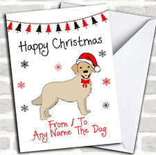 Golden Retriever From Or To The Dog Pet Christmas Customised Card