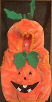 Size 12 To 24 Month Pullover Hodded Jack -o-latern Costume  Fuzzy Orange Leaves