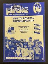 Bristol Rovers v Birmingham City, Pre-Season Friendly, 6th August 1985