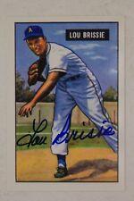 Lou Brissie (d.2013) 1951 Bowman #155 Signed 1996 CCC Reprint Indians  17G