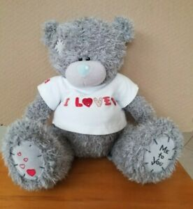 "Tatty Teddy, Me to You Bear 30cm wearing a white t-shirt ""I LOVE YOU"""