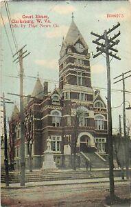 H65/ Clarksburg West Virginia Postcard c1910 Court House Building  29