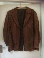 """Vintage Austin Reed Lined brown Suede  jacket size medium 40"""" Tailored London"""