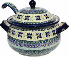 Polish Pottery Soup Tureen 13.4 cups with Ladle from Zaklady GU1004/1367-du121