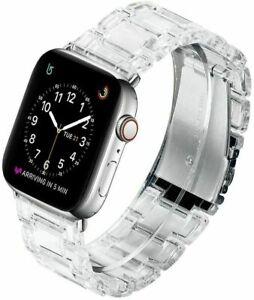 Resin Wrist Watch Band iWatch Strap Bracelet For Apple Watch Series 5 4 3 2 1 6