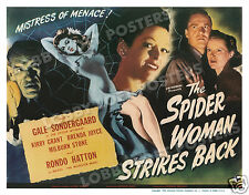 THE SPIDER WOMAN STRIKES BACK LOBBY TITLE CARD POSTER 1946 RONDO HATTON