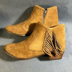 New Minnetonka 1523 Blake Boot Brown Side Zipper and Fringe - Multiple sizes
