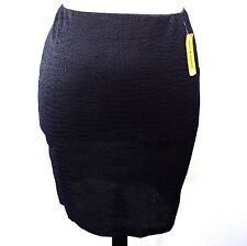 NWT JON & ANNA BLACK PLUS SIZE 1X SKIRT ALLIGATOR TEXTURE BODYCON STRETCH