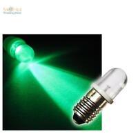 E10 LED-Schraubsockel-Birne GRÜN 12V E-10 Lampe Leuchte Leuchtmittel 12 Volt