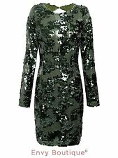 Sequin Long Sleeve Stretch, Bodycon Dresses for Women