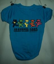 Grareful Dead Blue With Bears Dog Costume T Shirt Size L