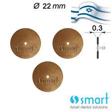 Lot x 3 Dental Lab Sintered Diamond Disc Israel made 22 MM ceramic inflexible