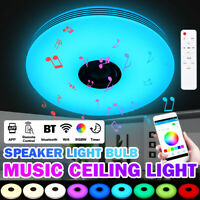 72W LED Ceiling Light 256 Colors RGB bluetooth Music Speaker Dimmable APP Remot