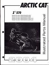 2004  ARCTIC CAT SNOWMOBILE Z 570 PARTS MANUAL P/N 2256-871  (566)
