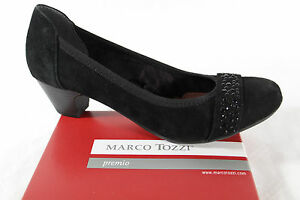 Marco Tozzi Court Shoes Slippers Black, Soft Inner Sole, Suede Leather New