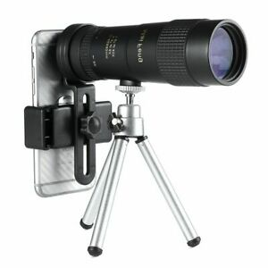 8-40x40 Monocular Telescope With Tripod Phone Clip Compact Retractable Zoom New