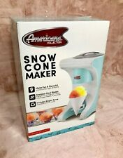 NEW NIB Americana Collection Snow Cone Maker w/ Reusable Cup Fun Kitchen Tools