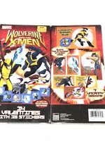 Marvel Wolverine and The X-men Box 34 valentines cards 35 Stickers Nicktoons