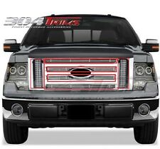 FITS FORD F150 2009 2010 2011 2012 STAINLESS STEEL CHROME BILLET GRILLE TOP ONLY