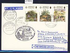 55872) LH FF München - Erfurt 27.10.96, Karte ab Jersey