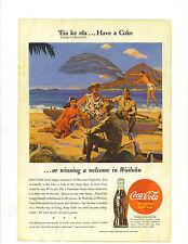 "Original Vintage 1945 Coca Cola Print Ad 10 x 6 7/8 Titled ""Eia ke ola …"