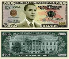 BARACK OBAMA 2008 BILLET COMMEMORATIF DOLLAR US! Collection PRESIDENT ETATS UNIS