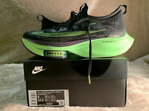 Nike Air Zoom Alphafly Next% Black/Electric Green CI9925-400 - Size 9 US