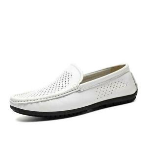 Mens Driving Moccasins Shoes Pumps Slip on Hollow out Breathable Soft Comfy 45