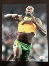 Usain Bolt Signed Auto 8x10 Photo JSA COA Track Star Olympic Gold Medal 🎖