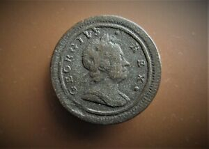 GEORGE I  FARTHING 1721  / SNIFF'S  ANCIENT COINS T-7
