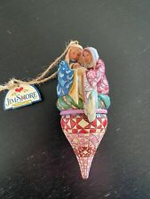 Enesco Jim Shore Holy Family on Finial Hanging Ornament