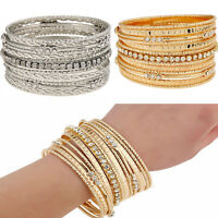 New Rhinestone Crystal Gold Silver Bracelet Fashion Jewelry Multilayers Bracelet