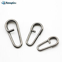 50pcs bent dead Oval Split Rings Loop Lure Assorted Swivel Snap Connector