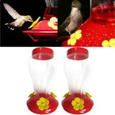 2PC Wide Mouth Waist Hummingbird Feeder Free Nectar Patio Yard Window Bird Gift