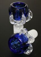 18mm glass slide bowl DRAGON CLAW BLUE Head piece glass Slide Bowl 18 mm