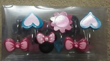 Disney Shower Curtain Hooks, Minnie Mouse Theme, Full Set of 12 NEW