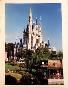 RARE 1991 WALT DISNEY WORLD MAGIC KINGDOM CINDERELLA CASTLE PUBLICITY PHOTO