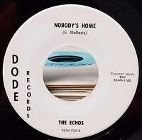 Echos Nobody's home/Turn me on turn me off Mod Garage Garage R&B 45 Dode 1005