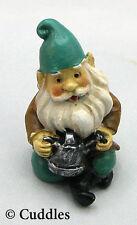Garden Gnome Figurine Ganz Fairy Outdoor Fantasy Mini Sitting Watering Can New