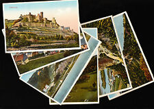 OLD GERMAN POSTCARDS - RUINE STAHLECK, BURG RHEINFELS - 6 CARD SET