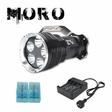 High Power Rechargeable 5x CREE XMLT6 LED Flashlight Torch 18650 Battery Charger