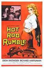 Hot Rod Rumble Cartel 01 Letrero De Metal A4 12x8 Aluminio