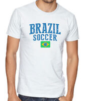 Brasil Team Soccer T-shirt Adults Men's Soccer Jersey 100 % cotton Any Sports