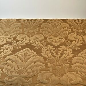 fabric matelasse floral gold beige 55 wide x 95 crafts sewing drapery 2.6 yards