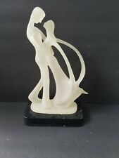 Abstract Pucker Up Organic Sculpture of Man With Woman In His Arms