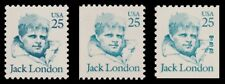 Jack London 2182 2182v 2197 Great Americans 25c Variety Set of 3 MNH - Buy Now