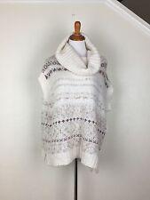 Free People NWT Ivory Cowl Neck Short Sleeve Sweater $129 Wool Alpaca Blend M