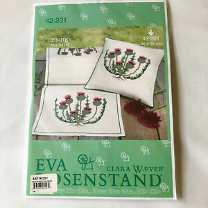 Eva Rosenstand Cross Stitch Pillow Kit Thistle Floral Clara Waever 42-201