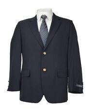 [243] NEW Club Room Mens Solid Navy WOOL Blazer Sports Jacket 40S $250