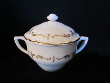 Royal Worcester - GOLD CHANTILLY - Small Covered Sugar Bowl